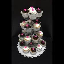 4 tier round cup cake stand