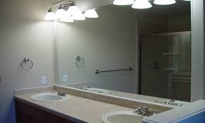 Bathroom Frameless Mirrors Frameless Mirror For Bathroom Home Design Website Ideas