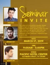 Seminar Invitation Templates 120 Customizable Design Templates For Seminar Postermywall