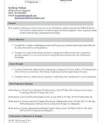Server Support Engineer Resume Technical Support Engineer Resume