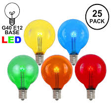 Outdoor Novelty Lights Novelty Lights 25 Pack G40 Led Outdoor String Light Patio Globe Replacement Bulbs Multi 3 Leds Per Bulb Energy Efficient