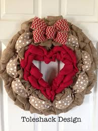 valentine wreaths for your front doorValentines Day Burlap Wreaths Page Three  Valentines Day Wikii