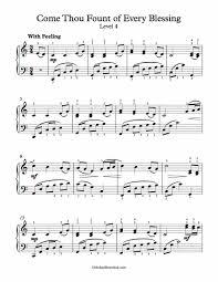 Come Thou Fount Chord Chart Free Piano Arrangement Sheet Music Come Thou Fount Of