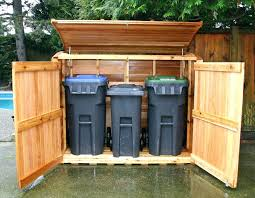 garbage can enclosure garbage can shed outdoor living today trash can storage shed 63 garbage storage