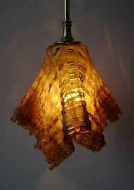 lighting pendant amber lit