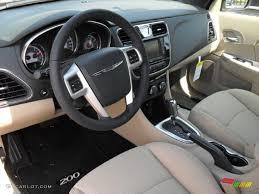 Black/Light Frost Beige Interior 2011 Chrysler 200 Touring ...