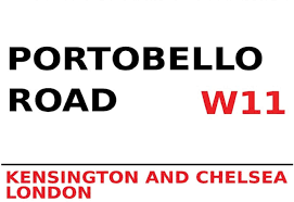 FS London Street Sign Portobello Road Kensington & Chelsea W11 White  Blechschild Schild gewölbt Metal Sign 20 x 30 cm: Amazon.de: Küche &  Haushalt