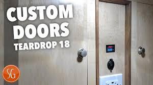 making custom doors how to build a teardrop trailer 18