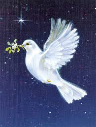 peace dove with the olive branch 2 sided garden flag