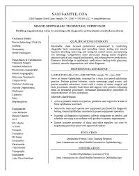 Medical Technician Resume Example