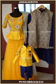 Mother Designer Chennai Mother Dad And Son Matching Dress Designs By Angalakruthi