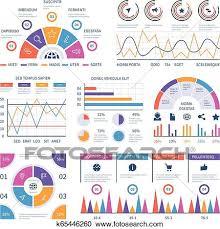 Infographic Template Dashboard Bar Finance Graphs Pie