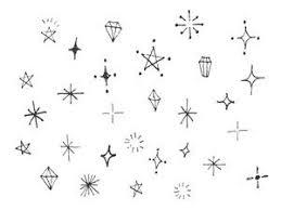 手書きのキラキラ素材のイラスト2種 Illustrations Zzz ペンイラスト