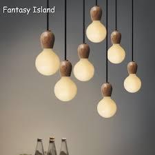 Wooden Pendant Light Fixtures Wooden Pendant Lights E27 Wood Pendant Lamp For Home Living