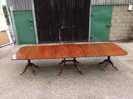 8ft antique regency period mahogany extending pedestal dining table