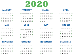 Microsoft Excel Calendar 2020 Free Colorful Yearly Calendar 2020 Printable Template