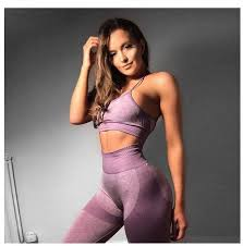 China New <b>Gym 2</b> Piece Set Sport Bra and Pants Clothing Fitness ...