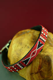 navajo bead designs. Navajo 24 Inch Beaded Prayer Feather And Traditional Design Nylon Dog Collar By Caroline Joe Bead Designs R