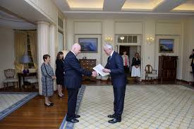 the governor general received from his excellency paul gulleik ln letters of credence accrediting