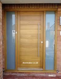 contemporary front door oak fhb