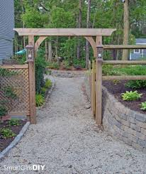 astonishing diy garden arbor smart ideas pic of gate plans trend and throughout diy simple arbor