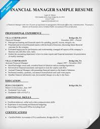 Gallery Of Finance Manager Resume Examples Resume Template Finance