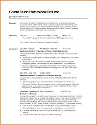 9 Example Resume Summary Precis Format