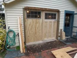 building carriage doors from scratch the garage journal diy wood garage door panels
