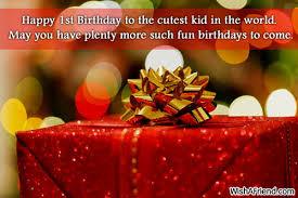 1st Birthday Wishes via Relatably.com