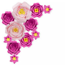 Peony Paper Flower Details About 12 Pc Combo Pink Fuchsia Peony Paper Flower Backdrop Wall Decor