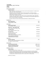 Free Resume Templates For Registered Nurses