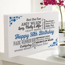 personalized 50th birthday present for him
