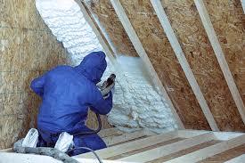 the attic before installing spray foam
