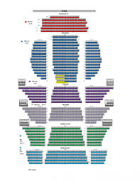 Seating Chart Cannon Center For The Performing Arts