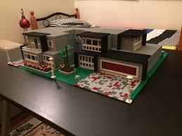Real Life Lego House Moc Lego Modern Mansion Youtube