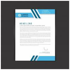 Business Letterhead Delectable Editable Business Letter Template Vector Free Download