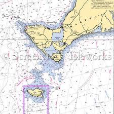 Massachusetts Aquinnah Martha S Vineyard Chilmark Nautical Chart Decor