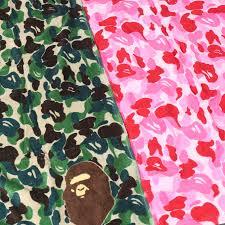 Bape Pattern Stunning Camouflage Bape Bath Towel Set 48 PCS GreenPink Couples Towel