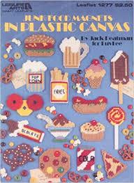 Junk Food Chart Junk Food Magnets In Plastic Canvas Chart Leaflet 1277