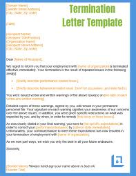 Termination Letter Template Termination Letter Template Free Business Writing Templates