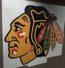 amosaic custom mosaics glass mosaics blackhawks mascot