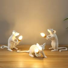 Mouse Desk Lamp Resin Peculiar White <b>Nordic Creative Living</b> ...
