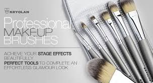 kryolan 8314 makeup brush set 7 synthetic fiber brushes bag professional se ebay