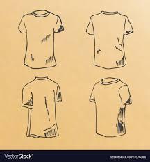 shirt design templates t shirt design templates sketch royalty free vector image