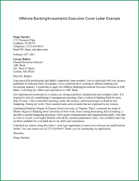 Banking Cover Letter Offshore Or Investments Executive Example Guide