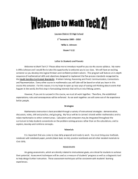 010 Teacher Welcome Letter Template Ideas Parent Letters From
