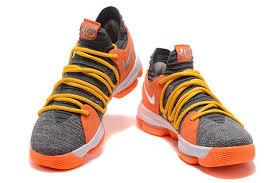 nike basketball shoes 2017. 2017 nike kd 10 cool grey orange men\u0027s basketball shoes for sale-3