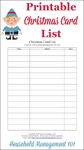 How To Address A Christmas Card Christmas Card List Printable Plan Who Youll Send Cards To