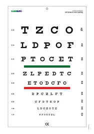 Amazon Com Snellen Chart With Red Green Lines 10 Feet Size
