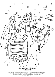 Small Picture Wise Men Worship Jesus Coloring Page